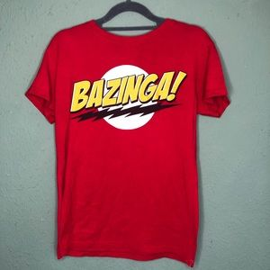 Big Bang Theory Bazinga! Shirt Size Large